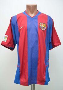 BARCELONA SPAIN 2002/2003 HOME FOOTBALL SHIRT JERSEY NIKE SIZE XL ADULT