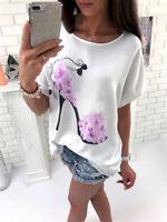 UK Plus Size Womens Loose Blouse Long T-shirt Ladies Casual Party Mini Dress Top