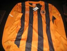 HULL CITY 2014/15 LONG SLEEVE HOME SHIRT SHIRT X LARGE BOYS  TAGS/PACKET
