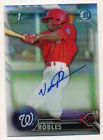 2016 Bowman Chrome * VICTOR ROBLES * On Card AUTO * REFRACTOR REF RC * #87/499