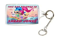 Personalised Shimmer and Shine School Bag ID Name Keyring