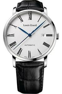 Louis Erard Automatic Excellence Collection White Dial Leather Strap 68233AA01.B