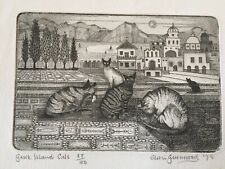 original print numbered of CATS  Edith guthwood 1978