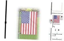 New listing Garden Flag Stand Pole Holder with Flag-Stopper and Anti-Wind Clip Premium Meta