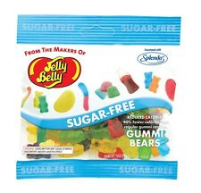 SUGAR FREE GUMMI BEARS  - Jelly Belly Candy Jelly Beans - 2.8 oz BAG - 4 PACK