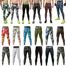 Men Gym Sport Thermal Tight Compression Base Layer Pants Long Leggings Trousers