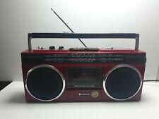 Vintage Red Boombox Ghettoblaster Hitachi TRK-6830E.Rare. Singapore 🇸🇬