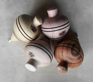 Vintage wooden spinning top traditional Portuguese hand made in Portugal