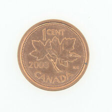 Canada 1 Cent Penny Collection - 2003 P Old Effigy Canada 1 Cent - BU MINT