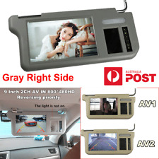 """9"""" Car Right Sun Visor LCD Monitor 2-CH Video For DVD/VCD/GPS/TV&Rearview Camera"""