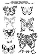 Parchment Craft Template - Butterflies Butterfly Pattern 103 FREE Postage UK