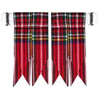 Highland Kilt Hose Socks Flashes Royal Stewart Garter pointed/Kilt Hose Flashes