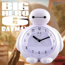 practical cartoon Big Hero 6 Baymax room night light quiet voice alarm clock