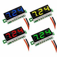 wires LED Display Mini 3-Digital Gauge Voltage Voltmeter Voltameter Panel Meter