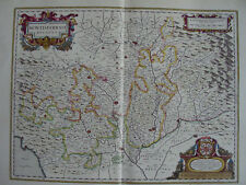MAPPA DUCATO DEL MONFERRATO 1640 PIEMONTE ALBA ASTI ALESSANDRIA TORINO VERCELLI