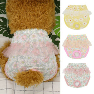 Dog Sanitary Pants for Female Girl Dogs Pet Physiological Diapers Underwear XS-L