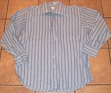 Mens LINEA DOME Chemise BLUE DRESS SHIRT~sz XXL 18 18.5~NEW~Button Down Striped