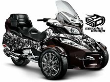 "Can Am Spyder RT RT-S RT Limited graphic wrap decal kit ""Death"""