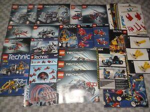 LEGO TECHNIC, Vrac de notices Lego Technic, Récent, Vintage, Camions 2KG environ
