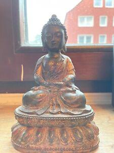 Antiker Bronze Buddha China 19 Jh.