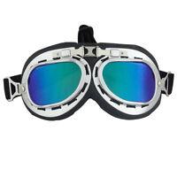Vintage Style Aviator Pilot Cruiser Motorcycle Biking Goggles Helmet Glasses New