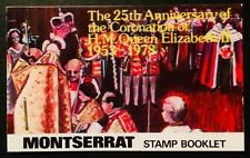 MONTSERRAT STAMP BOOKLET SCARCE CORONATION MONARCHY QUEEN ROYAL 06120818