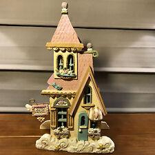 Used Kurt S Adler Angel Heights Star Dust Factory Lighted Christmas Village