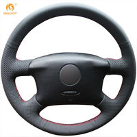 Leather Steering Wheel Cover for VW Passat B5 VW Golf 4 Seat Alhambra #GB19