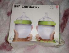 Comotomo Baby Bottle Green 5 Oz/150ml 2 Count.  Green.