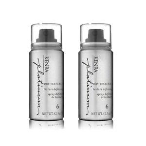 Kenra Platinum Dry Texture Hair Spray #6 ~1.5 fl.oz each - Lot of 2