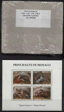 WHOLESALE: 100 BLOCKS MONACO 5,00 EURO VIER JAHRESZEITEN 2002 ** MNH, FACE VALUE