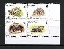 L260 Monaco 1991 turtles WWF block MNH