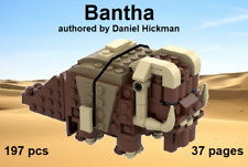 *custom* Lego Star Wars Tatooine Bantha - instruction manual only