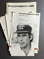 1984 Porsche Gruppe B & Full Line ORIGINAL Press Kit, Pressemappe German RARE!!