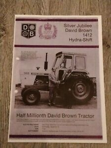 DAVID BROWN Silver Jubilee 1412 Hydra-Shift Tractor Brochure Flyer (Photocopy)