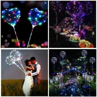 "20"" LED Light Up Luminous Bubble Balloons Wedding Birthday Party Decor Supplies"