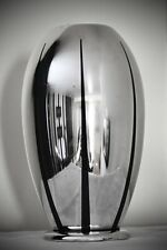 More details for wmf ikora art deco silver plated large bauhaus zeppelin shaped vase, signed