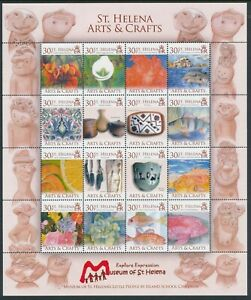2006 ST HELENA ARTS & CRAFTS SHEETLET FINE MINT MNH
