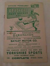 1957/58 Bradford Park Avenue v Darlington