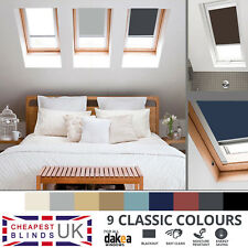 BLACKOUT THERMAL ROLLER ROOF SKYLIGHT BLINDS FOR ALL DAKEA WINDOWS - 9 COLOURS