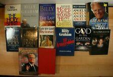 BILLY GRAHAM CHRISTIAN BOOKS & BIOGRAPHY! Paperback/Hardcover, Lot of 14!