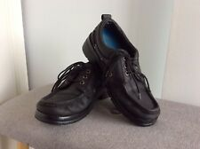 Ladies Womens Size 8 Colorado Black Leather Lace Up Shoes Classic Style