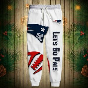 New England Patriots Football Sweatpants Casual Jogging Pants Baggy Trousers