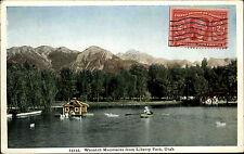 Liberty Park Utah Amerika USA America AK ~1930 Blick auf den Wasatch Mountain