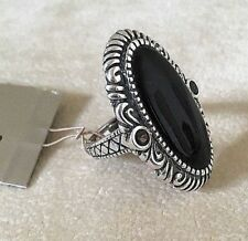 Barse Ring, Size 6  Genuine Onyx w/ Sterling Silver MSRP $85