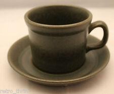 Vintage Wedgwood Sterling Khaki Coffee Tea Mug Cup with  Saucer England Rare