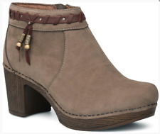 Dansko 'Dabney' Taupe Milled Nubuck Ankle Boots 7352 Size 42 EUR