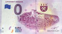 BILLET 0 EURO LIPTOVSKY HRADDOK SLOVAQUIE   2019-1 NUMERO DIVERS