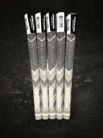 GOLF PRIDE MCC PLUS 4 GRIPS Grey/Black X5 MIDSIZE Inc Tape And Instructions