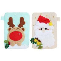Handmade Christmas Card Bag Needle Felting Kit Kids Children Felt Crafts Kit
